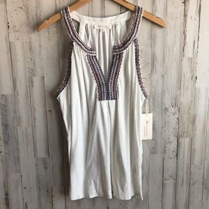 Two by Vince Camuto Embroidered Tank-NWT